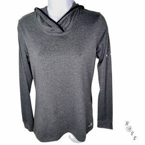 BC Hooded Athletic Running Top Thumb Holes